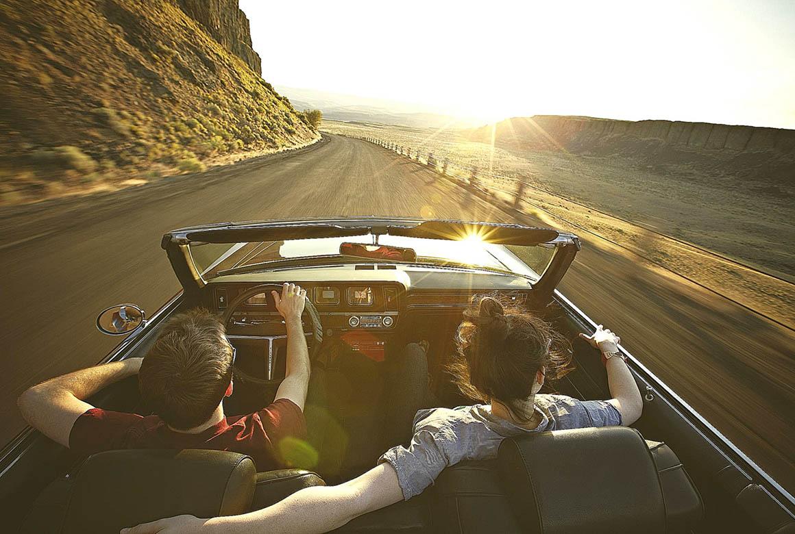 Делать открытки, картинки он и она в машине